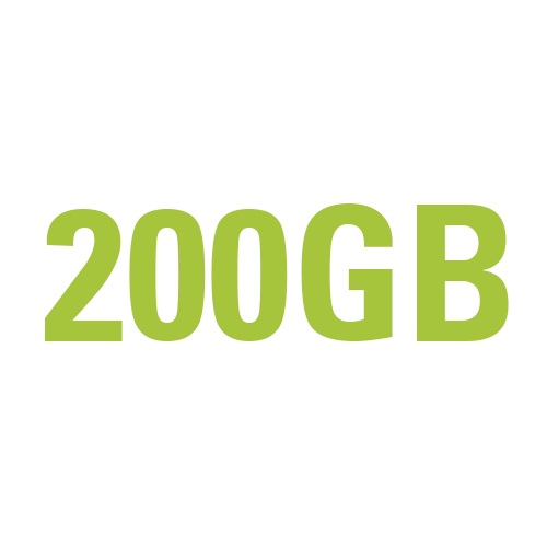 200GB Anytime